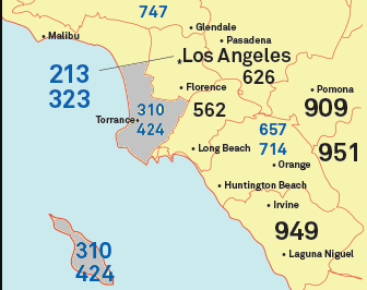 Los Angeles Map By Zip Codes.310 Area Code Zip Codes Cities Location Map Time Zone